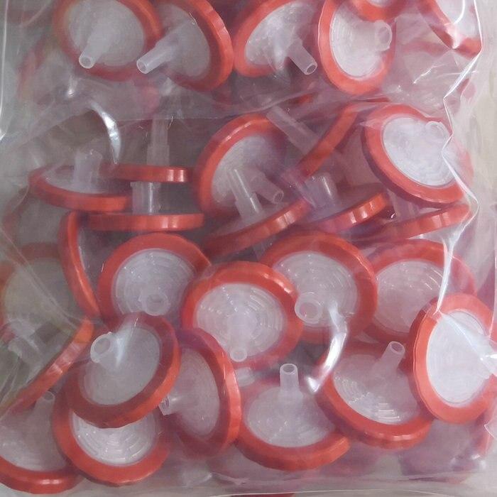 100 pcs Hydrophobe 25mm 2.0um PTFE Seringue Filtre Microporeux pour laboratoire expérience scolaire