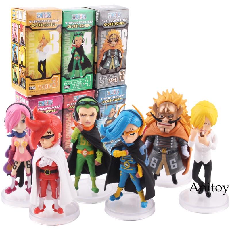 One Piece Figure Anime Vinsmoke Family Judge Reiju Ichljl Niji Sanji Yonji PVC Action Figures Toys 6pcs/set 7.5-8.5cm KT4821 new hot 1pcs 18cm one piece anime black leg sanji pvc action figure toys children s gifts