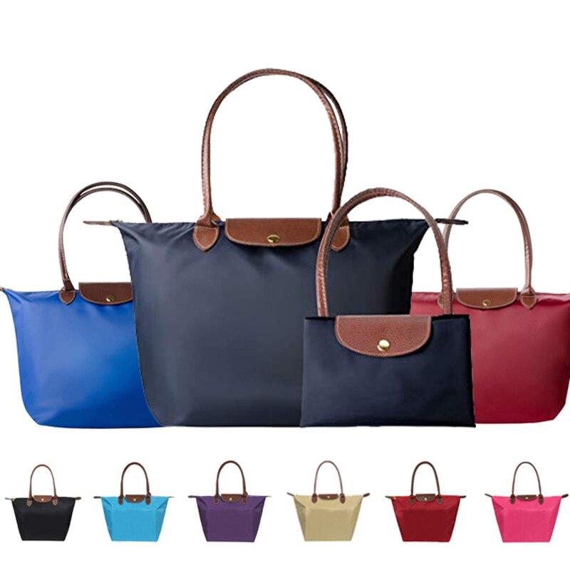 fashion-top-handle-nylon-travel-hobos-tote-bag-large-handbag-ladies-lightweight-foldable-shopping-shoulder-beach-zip-bag-2019