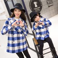Family Winter Coats Plaid Mom Son Outfits Mum Mommy and Me Clothes Mother Daughter Dress Girls Jackets Winter Family Clothing