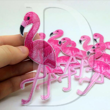 DIY Flamingo Embroidered Iron On Patches