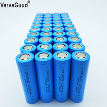VerveGuud 40Pcs Real Capacity 2200mAh 3.7v 18650 li-ion Rechargeable Battery For ICR18650-22F Toys Flashlight Tools Batteries