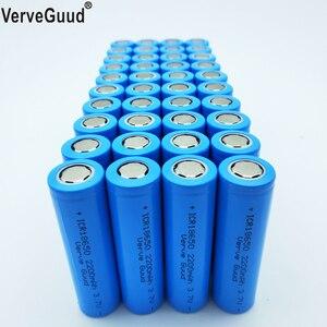 Verveguud 40 pces capacidade real 2200 mah 3.7v 18650 li-ion bateria recarregável para ICR18650-22F brinquedos lanterna ferramentas baterias