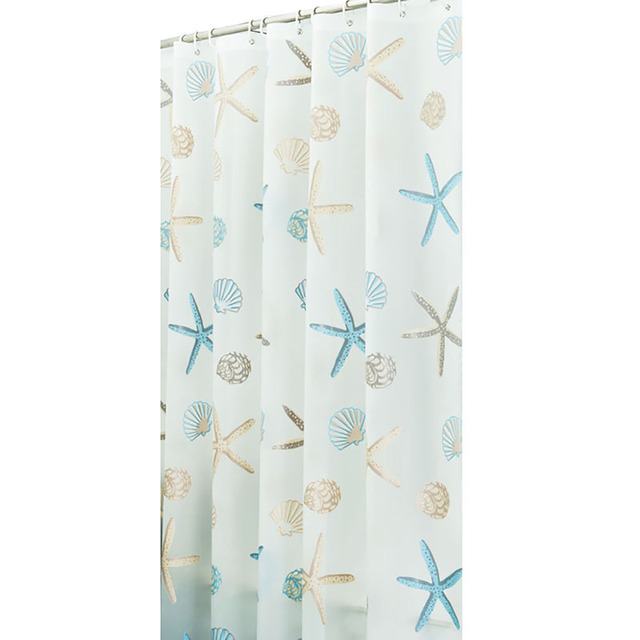 Eco Friendly PEVA Moldproof Waterproof Bathroom Bath Shower Curtain Products Curtains With 12pcs Hooks