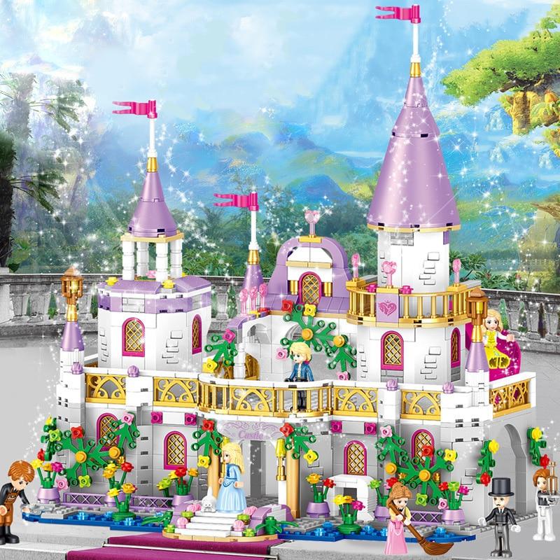 SLPF 731 Pcs Princess Castle DIY Model Building Blocks Bricks Assemble Mode Kit Toys Girl Birthday Gifts Compatible Legoings B08
