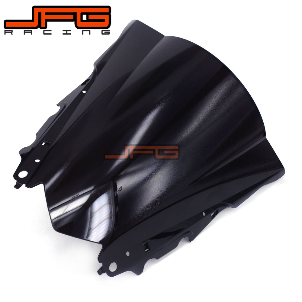Image 2 - Black Windscreen Windshield for Yamaha YZF R3 YZFR3 YZF R3 YZF R25 YZFR25 YZF R25 2015 2016 2015 2016 Motorcycle-in Covers & Ornamental Mouldings from Automobiles & Motorcycles