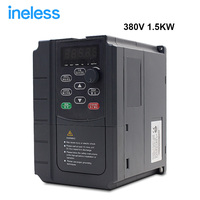 Free shipping 380v 1.5kw VFD Variable Frequency Drive Inverter VFD 3HP Input 3HP Output CNC spindle Driver spindle speed control