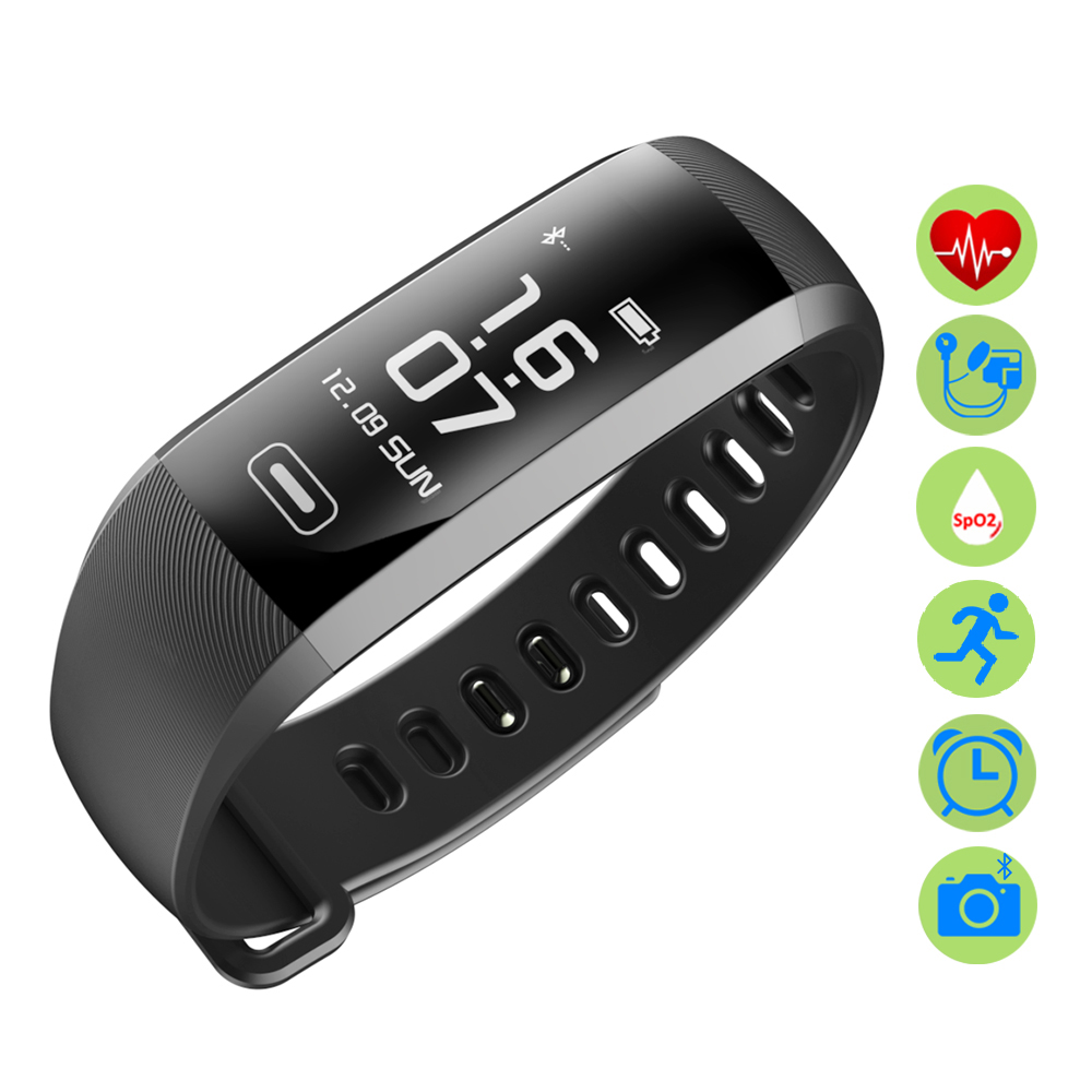 ZUCOOR Smart Bracelet Tonometer Heart Rate Monitor RB46 Wearable Devices Fitness Tracker Band Clever Bracelets For Men Pk Xiomi