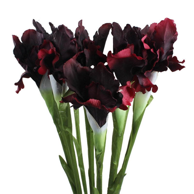 OurWarm 1pc Artificial Fake Flowers Iris Billig 6 Farger 68cm Fabric Dekorative Blomster for Home Decoration Event Party Supplies