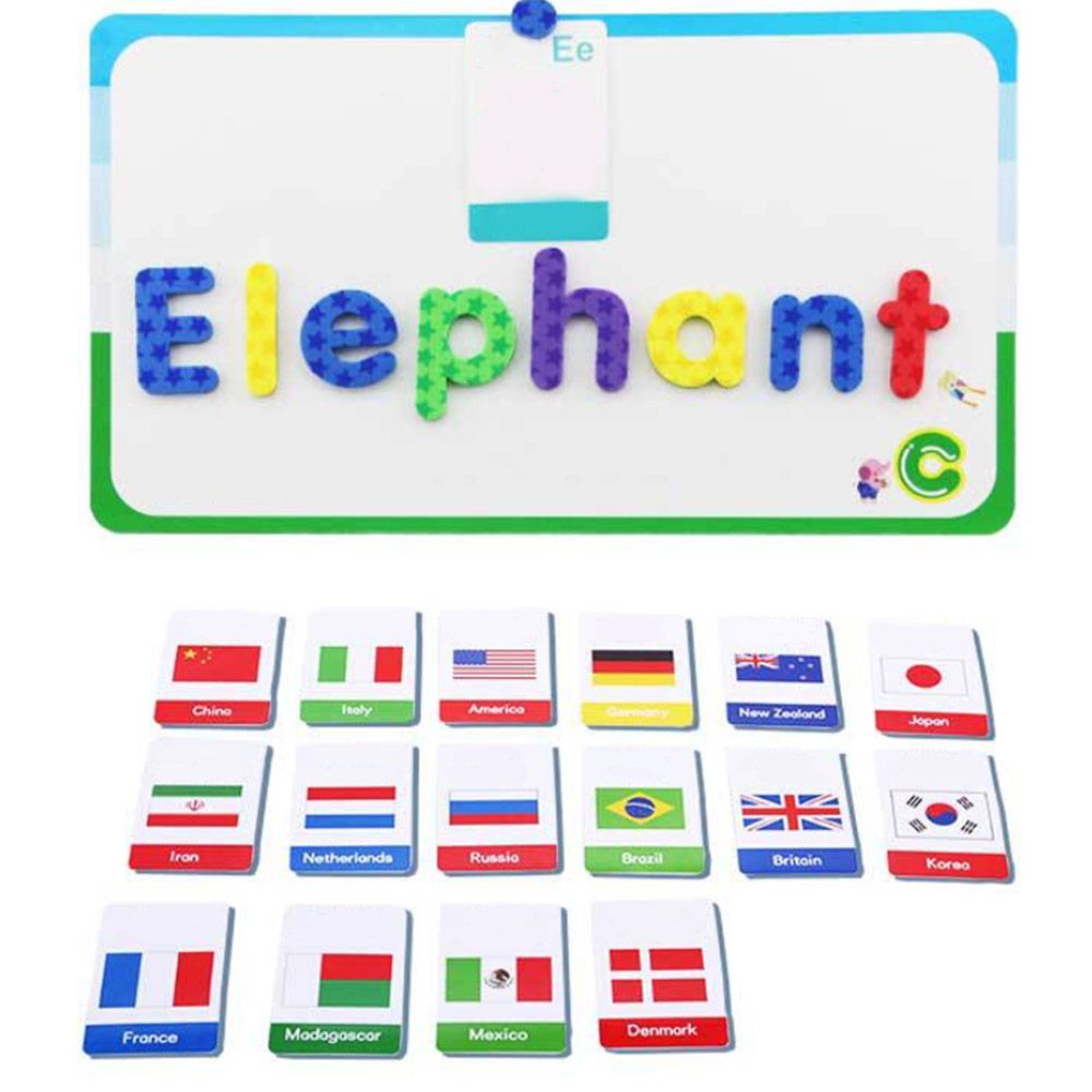Kit de lettres en mousse magnétique Alphabets de classe avec tableau magnétique pour enfants orthographe et apprentissage des jouets éducatifs