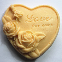 3D Silicone Soap Mold Heart Love Rose Flower Chocolate Mould Candle Polymer Clay Molds Crafts Forms