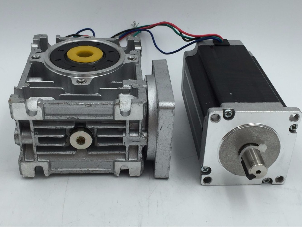 Nema23 Worm Gear Stepper Motor 30:1 2phase Hybrid Stepper Motor L112mm 4.2A 4 Leads for CNC Router