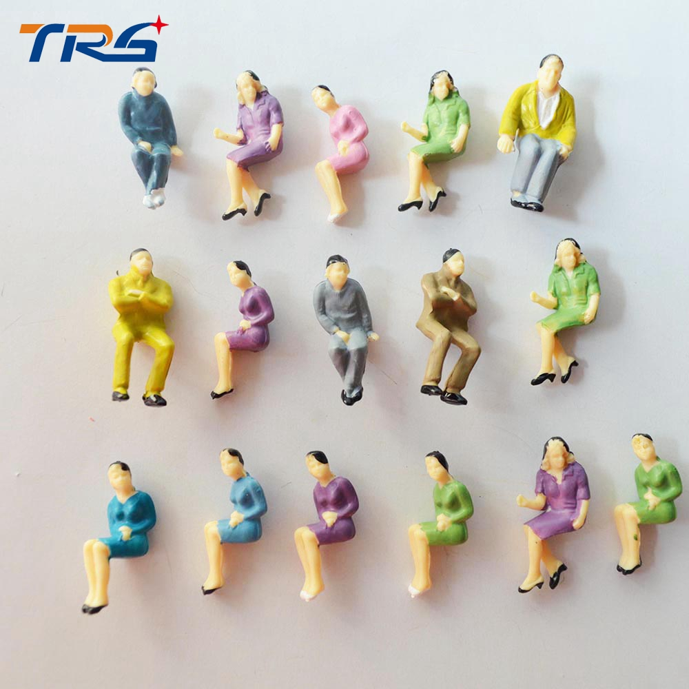 100PCS 1/50 all seated model railway people scale model sitting figures scenery model making