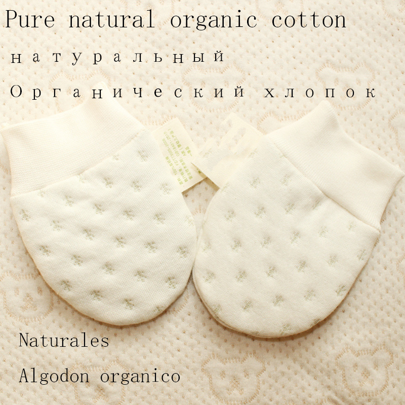 baby Mittens Glove for Newborn Natural organic Cotton Baby Gloves Mittens Baby Mitten Warm Infant Stuff 0 6M in Gloves Mittens from Mother Kids