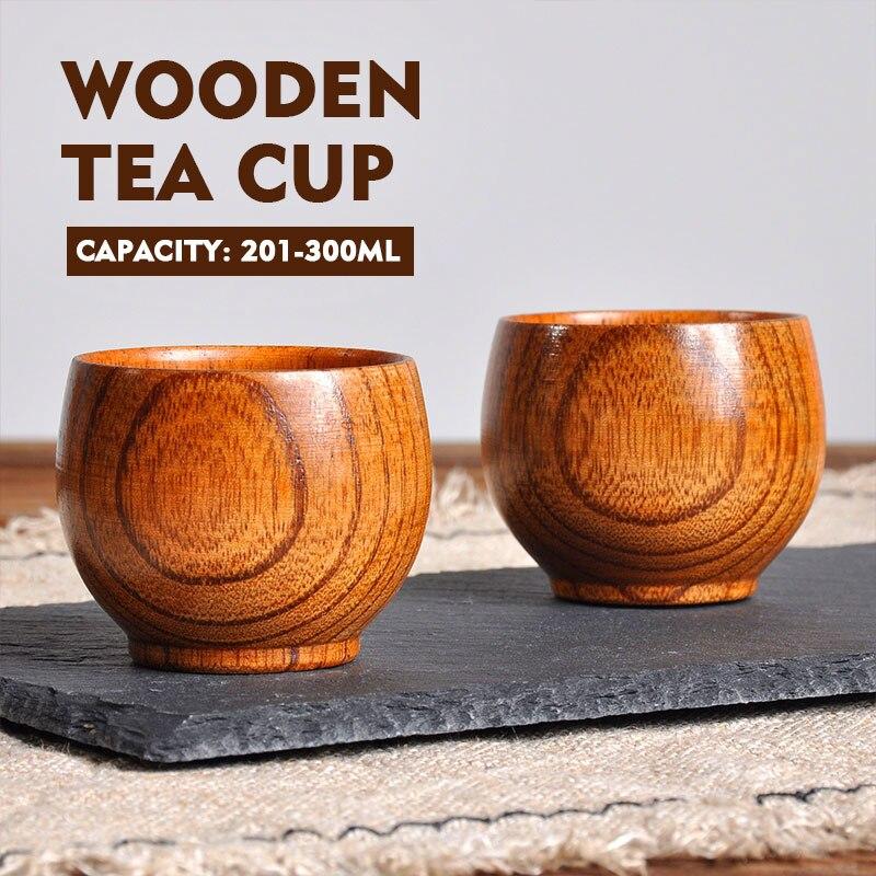 Drinken Mok Hout Cup Houten Natuurlijke Houten Cup Bar Duurzaam Hout Theekopje Koffie Sap Thuis Keuken Benodigdheden Handgemaakte Drinkware Laatste Stijl