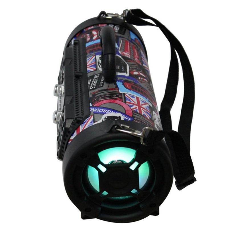 Portable 15 W grande puissance en plein air sans fil Bluetooth haut-parleur Cool Graffiti Hip hop Style Subwoofer Support Mic/TF carte jouer de la musique