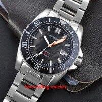 43 мм Parnis белый marke сапфировое стекло 20atm Miyota автоматические механические мужские часы для дайвинга
