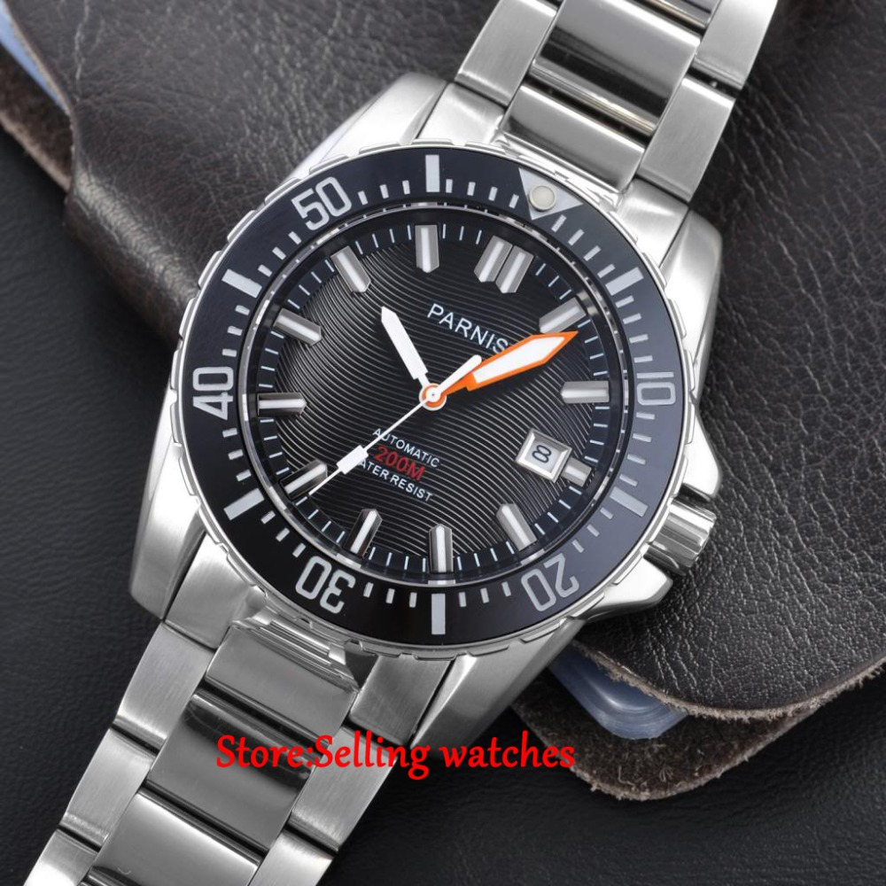 popular automatic dive watches buy cheap automatic dive watches 43mm parnis white marke sapphire glass 20atm miyota automatic mechanical mens dive watch