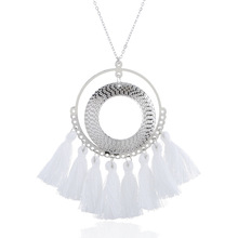 LZHLQ Tassel Necklace Women Long Necklace Boho Bohemian Necklace Accessories Colorful Vintage Ethnic Punk Style Fashion Jewelry