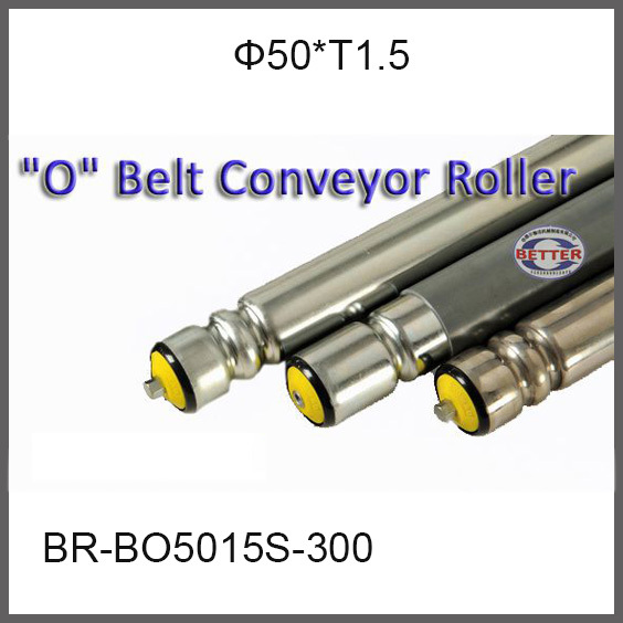 Diameter 50mm * thickness 1.5mm O belt roller driving pulley double O conveyor roller Spring Shaft