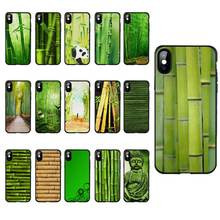 M233 Green Bamboo Nature Black Silicone Case Cover For Apple iPhone 11 Pro XR XS Max X 8 7 6 6S Plus 5 5S 5G SE