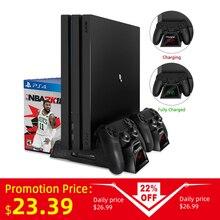 OIVO PS4/PS4 Slim/PS4 Pro Dual Controller Зарядное устройство консоли вертикальная охлаждающая подставка зарядная док-станция для SONY Playstation 4