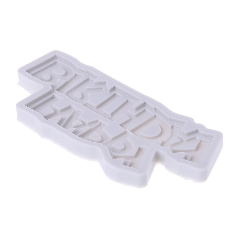 3D Happy Birthday Letter Silicone Fondant Cake Mold Chocolate Baking Tool Decorating Mould Y1QB