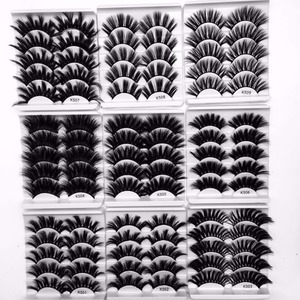 Image 2 - NEUE 5 Pairs 3D Nerz Haar Falsche Wimpern criss cross Wispy Kreuz Flauschigen 22mm 25mm Wimpern verlängerung Handmade Auge Make Up Werkzeuge