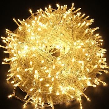 10-100 м светодиодная гирлянда AC220V AC110V гирлянда лампы водонепроницаемые наружные гирлянды Праздничные рождественские украшения