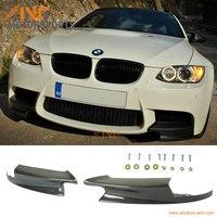 For 08 09 10 11 12 13 BMW E92 M3 FRONT BUMPER LIP CARBON FIBER PERFORMANCE STYLE