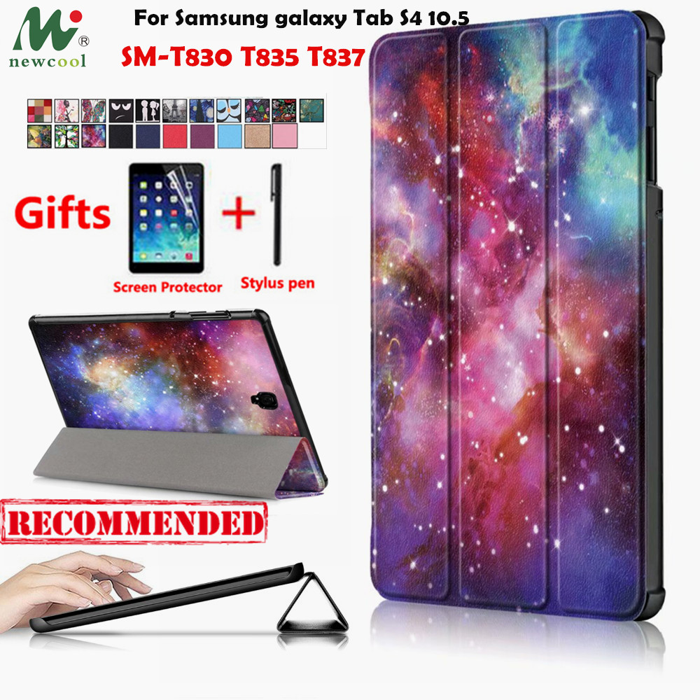 NEWCOOL Slim Magnetic PU Leather Case For Samsung galaxy Tab S4 10.5 SM-T830 T835 T837 Tablet cover funda For galaxy Tab S4 caseNEWCOOL Slim Magnetic PU Leather Case For Samsung galaxy Tab S4 10.5 SM-T830 T835 T837 Tablet cover funda For galaxy Tab S4 case