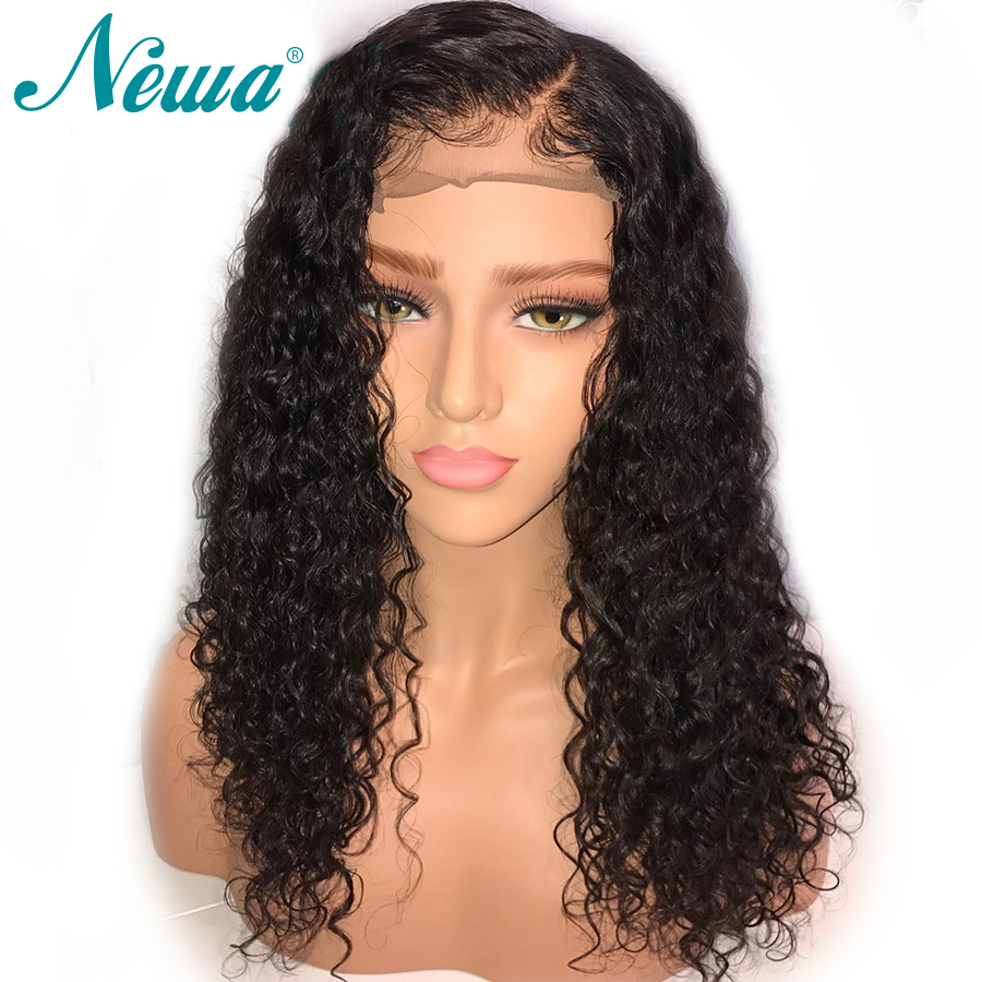 NYUWA Water Wave Lace Front Human Hair Wigs Pre Plucked With Baby Hair Lace Front Wigs
