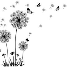 """""""Бабочка летит в Одуванчик"""" спальня гостиная наклейки Стиль стены стикеры дизайн ПВХ Наклейки на стены 5125"""