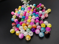 100PCs Mixed color 8mm double color Crackle Acrylic crack round loose beads Broken Crack Bracelet DIY Jewelry Making necklace
