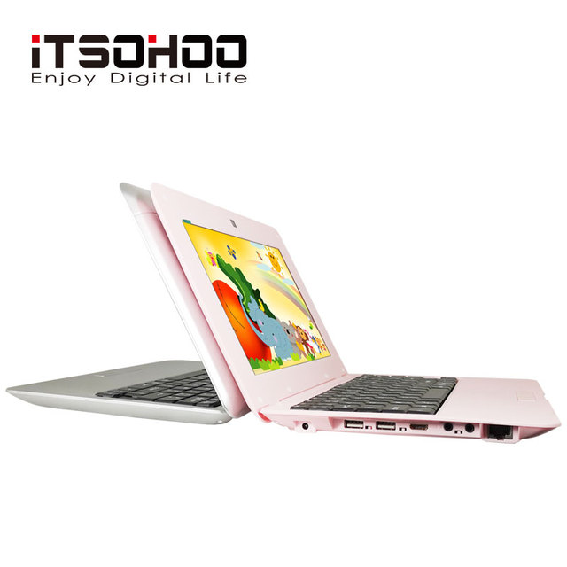 Low price Netbook 10.1 inch cheap students laptop computer pink color notebook computer for promotion