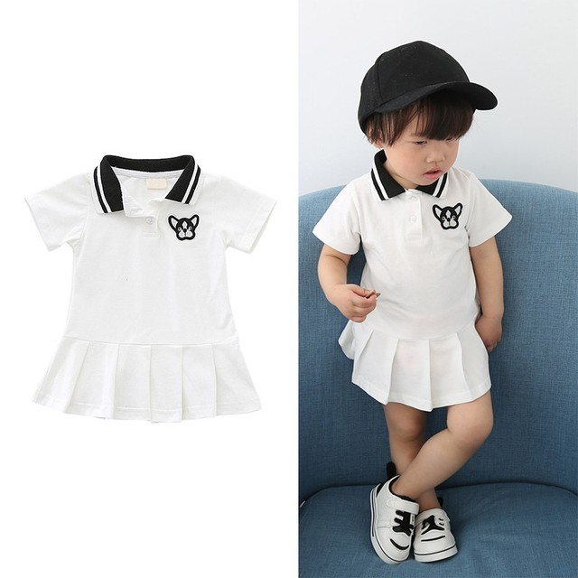 8fad789e8 2018 Baby Grils Dress Toddler Kids Letter Girls Clothing Sport Style ...