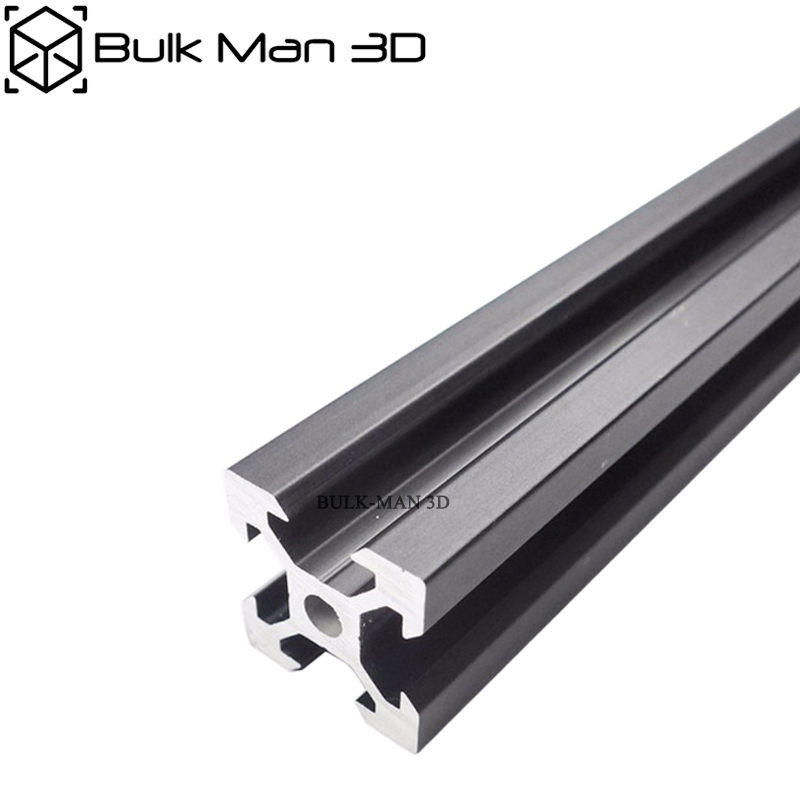 V Slot 2020 Sliver/Black Anodized Linear Rail For 3D Printer,CNC Router,V Slot Rail,Aluminium Profile