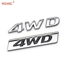 Car Sticker Four-drive 4WD Logo for Toyota Rav4 Hyundai IX25 IX35 TUCSON BMW Honda Skoda Rear Metal Letter Emblem Trunk Badge