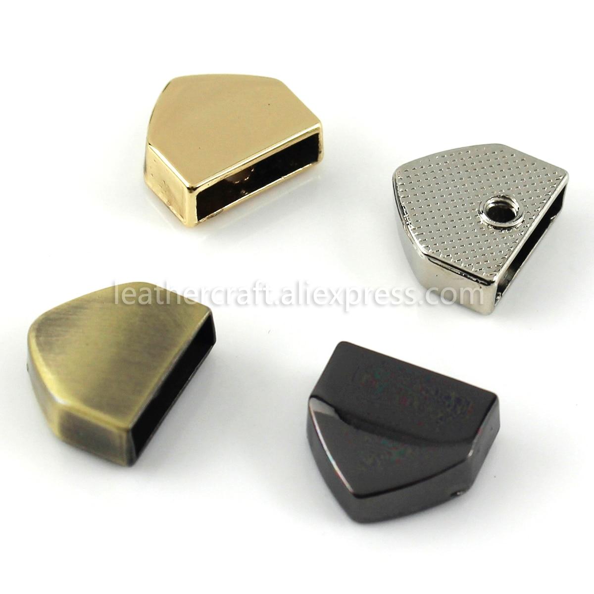 Металлическая заглушка для застежки-молнии, 10 шт., заглушка для фиксации хвоста с винтом, сумка для самостоятельного изготовления кожаных и...
