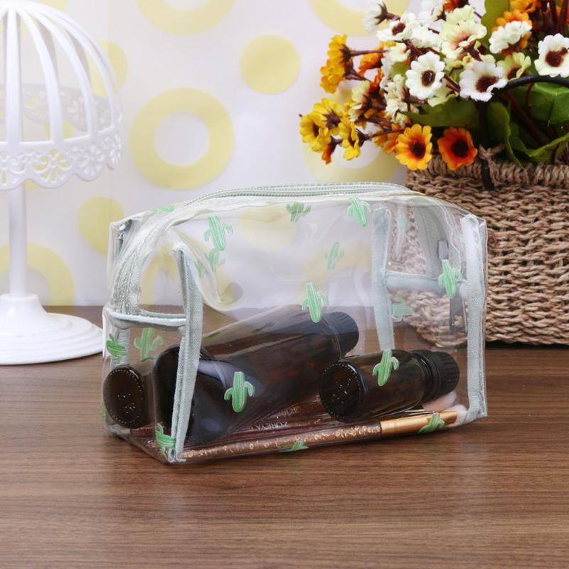 Women Travel Transparent PVC Cosmetic Bag Zipper Makeup Case Make Up Bags Organizer Storage Pouch Toiletry Wash Bag
