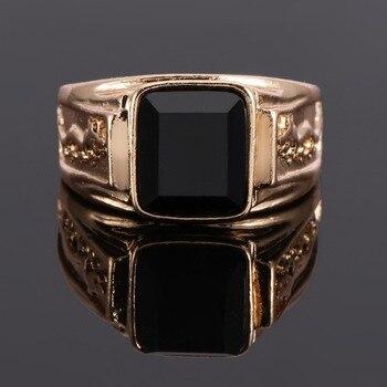 Chevalière pierre noir