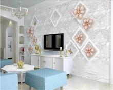 beibehang papier peint Romantic jewelry, flowers, butterflies, 3D, modern short wallpaper behang papel de parede hudas beauty