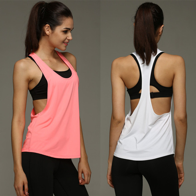 6f0ef7c3ce 2019 Summer Sexy Women Tank Tops Quick Dry Loose Fitness Sleeveless Vest  Singlet for T-shirt
