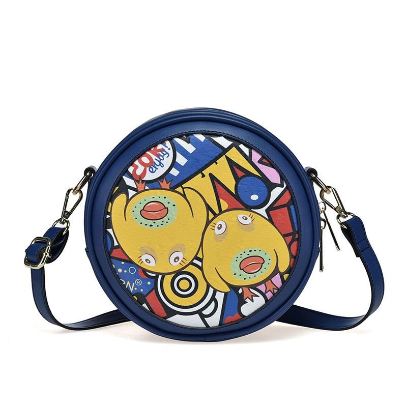 Новое поступление 2017 года через плечо сумка Для женщин кожа Сумки <font><b>Kawaii</b></font> милые школьные сумки для Обувь для девочек Сумки на плечо небольшой ме&#8230;