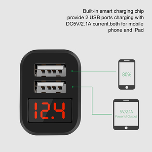 Image 4 - Dual USB Auto Ladegerät für iPhone 11 Pro XR Mit Smart Led anzeige Handy Ladegeräte Auto Ladegerät für huawei Mate 30 Pro Tablet