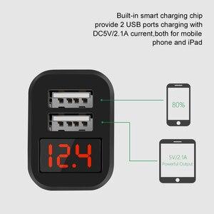 Image 4 - デュアル USB 車の充電器 11 プロ XR とスマート Led ディスプレイ携帯電話充電器車の充電器 huawei 社メイト 30 プロタブレット