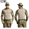 Nosotros ejército combate multicam militar camisa de camuflaje militar uniforme camisas/pantalones tácticos airsoftsport caza clothing rodillera
