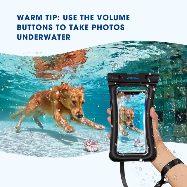 Mpow IPX8 Waterproof Bag Case Universal 6.5 inch Mobile Phone Bag Swim Case Take Photo Under water For iPhone Xs Samsung Huawei 5