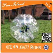 Free Shipping 12pcs (6Red+6Blue+2Pump) Good Quality Bumper Ball, Zorb Ball ,Bubble Soccer Suit,Bubble Football