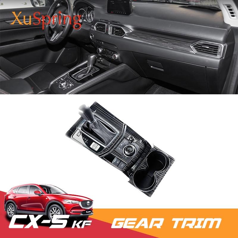 Para 2017 2018 2019 mazda CX-5 cx5 kf lhd carro caixa de mudança de engrenagem painel capa adesivo guarnição tiras decore proteção do carro-estilo